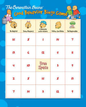 Berenstain Bears Good Behavior Bingo Game