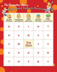 Berenstain Bears Talk About Feelings Bingo Game