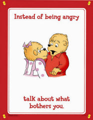 Berenstain Bears Anger Poster Set (4 Different Laminated Posters)