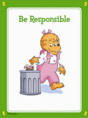 Berenstain Bears Behavior Poster Set (4 Different Laminated Posters)