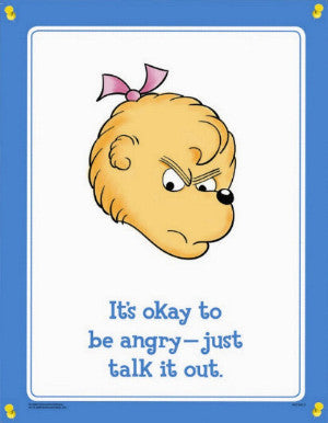 Berenstain Bears Feelings Poster Set (4 Different Laminated Posters)