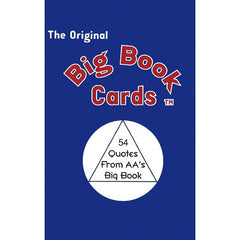 BIG BOOK CARDS: 54 Quotes From AA's Big Book