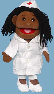 African-American Nurse Puppet (Movable Mouth)