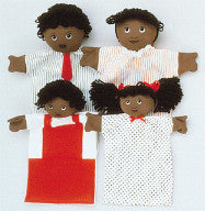 Machine-Washable Puppet Family (African-American)