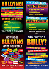"BULLYING - 4 Poster Set (Laminated 18""x24"")"
