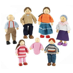 PlayKraft Doll Family - Caucasian (7-Pieces)