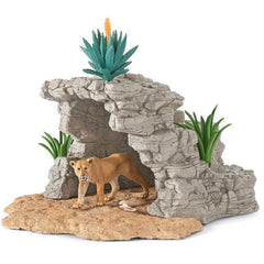 Cave Playset (With Lioness)
