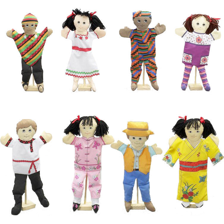 'Children From Around the World' Puppets