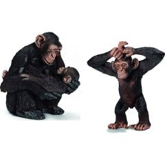 Miniature - Chimpanzee Mother and Children (2 Figures)