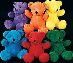 Plush Primary Color Bears (Set of 12)
