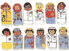 Multi-Cultural Community Workers (Set of 12 Finger Puppets)