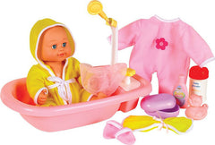 A Complete Doll Bath & Nurturing Set (Doll Included)