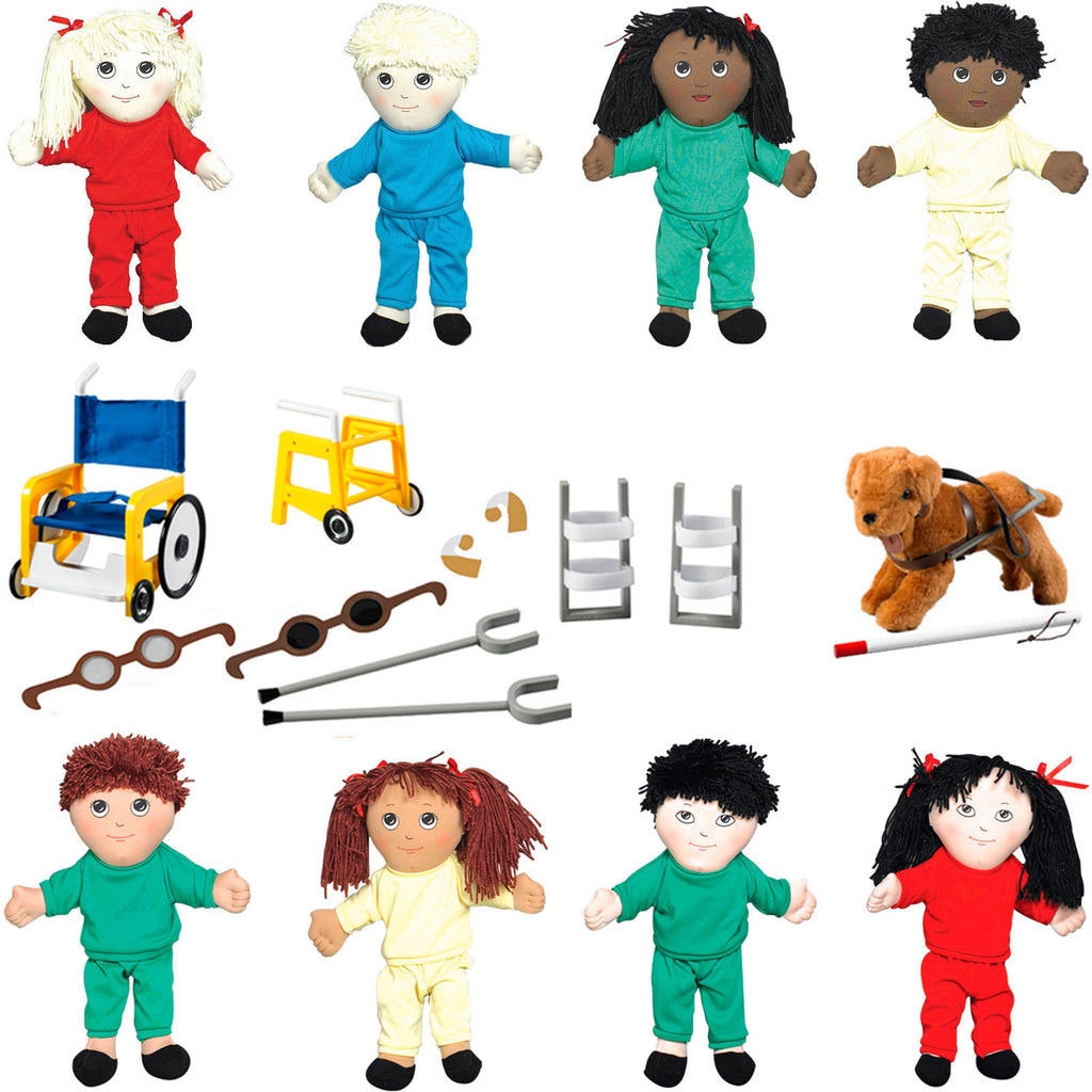 'Soft Play' Doll Package + Special Needs Equipment Set