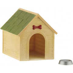 Doghouse & Dog Bowl
