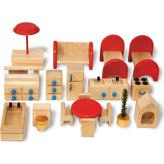 Dollhouse Furniture Set (18-Pieces)