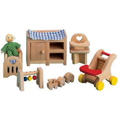 Dollhouse Nursery Set (With Baby)