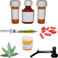 Miniature - Drug Addiction Set, 21 Pieces (For Professional Use)