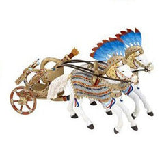 Egyptian Chariot & Horses (3-Pieces)