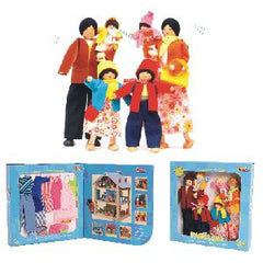 "11"" Doll Family (Asian) - Includes 6 Dolls with Wardrobes"