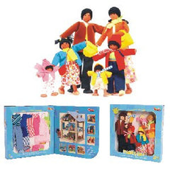 "11"" Doll Family (Hispanic) - Includes 6 Dolls with Wardrobes"