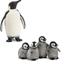 Emperor Penguin and Penguin Chicks
