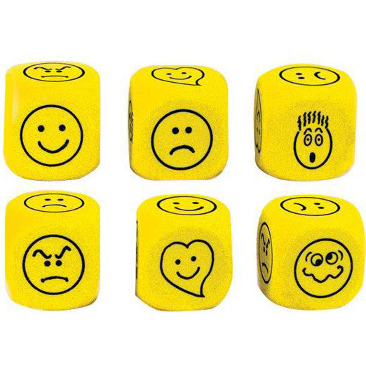 Expressions Foam Dice (Set of 6)