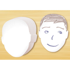"FACE SHAPED Whiteboards - Double Sided - 8""H"