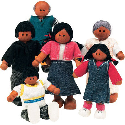The Best Wooden Doll Family (African-American)