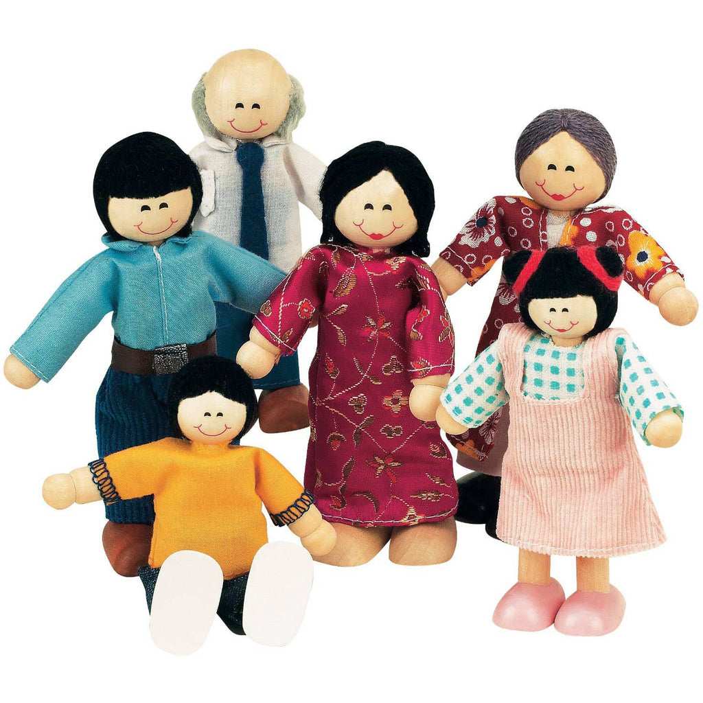 The Best Wooden Doll Family (Asian)