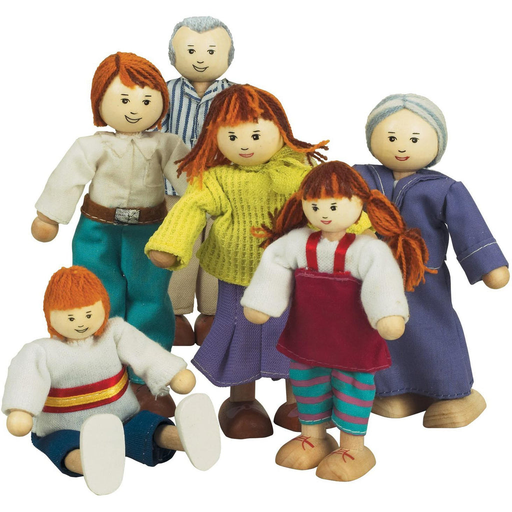 The Best Wooden Doll Family (Caucasian)