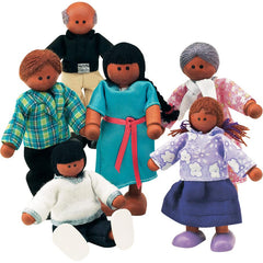 The Best Wooden Doll Family (Hispanic)