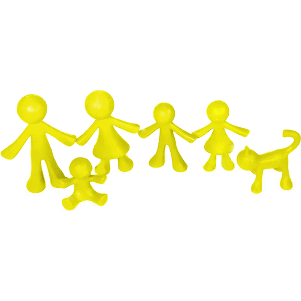 "Family Figures - ""Yellow Family"""