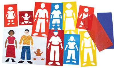 """My Family"" Plastic Stencils (Set of 9)"