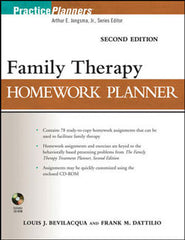 Family Therapy Homework Planner 2nd Edition (with CD-ROM)