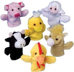 Farm Animal Finger Puppet Set (12 Puppets)