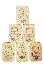 """Feelings"" Rubber Stamps (Set of 6)"