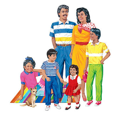 Felt Hispanic Family (PRE-CUT)