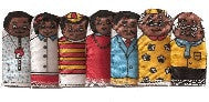 FAMILY Finger Puppets - African-American (Set of 7)