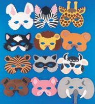 Foam Animal Masks (Set of 12)