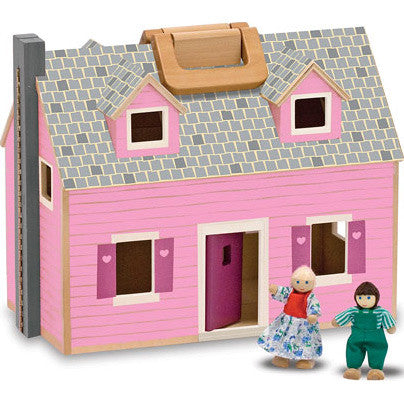 Fold & Go Dollhouse with Furniture Set