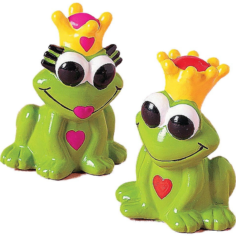 Frog Prince & Princess Finger Puppets/ Miniatures