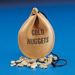 "Drawstring Bag With ""Gold Nuggets"""