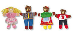 Goldilocks & the 3 Bears Finger Puppet Set