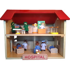 *Hospital & 27-Piece Hospital Play Set*