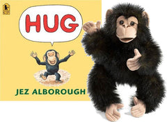HUG - Chimpanzee Puppet & Book Set