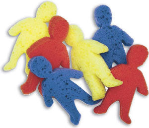Human Shape Sponges, 6/pkg.
