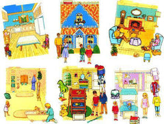 Interactive Felt Dollhouse Book (5 Rooms)