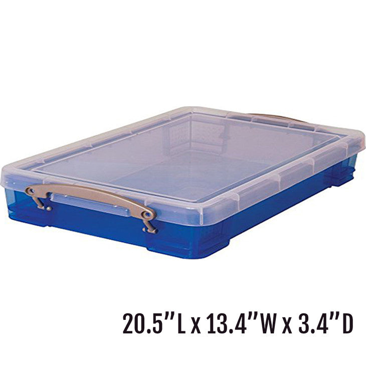 "Large Portable Sand Tray with Lid (20.5""L x 13.4""W  x 3.4""D)"