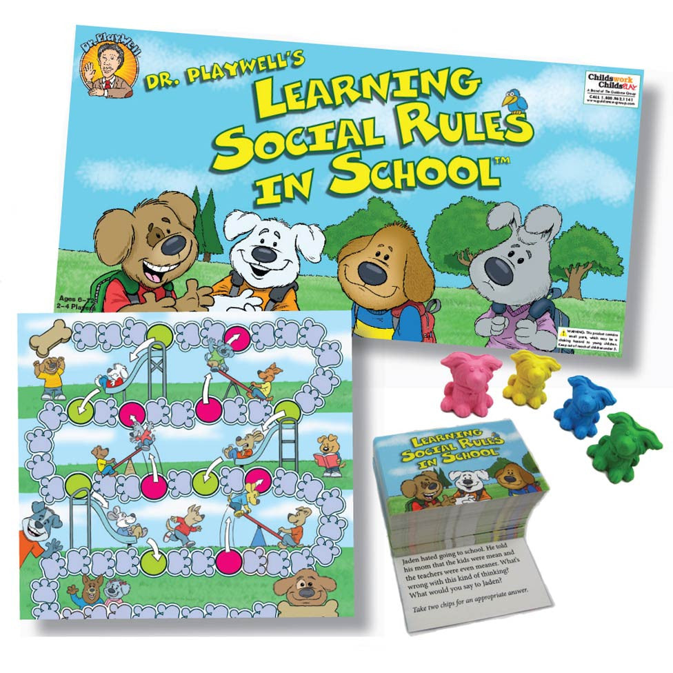 Learning Social Rules in School Board Game