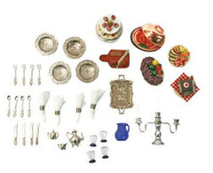 Dollhouse - Dining Room Accessories (37-Piece Set)